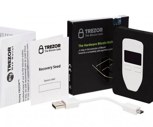 trezor wallet what are in box