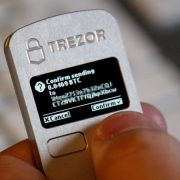 trezor screen shows in action